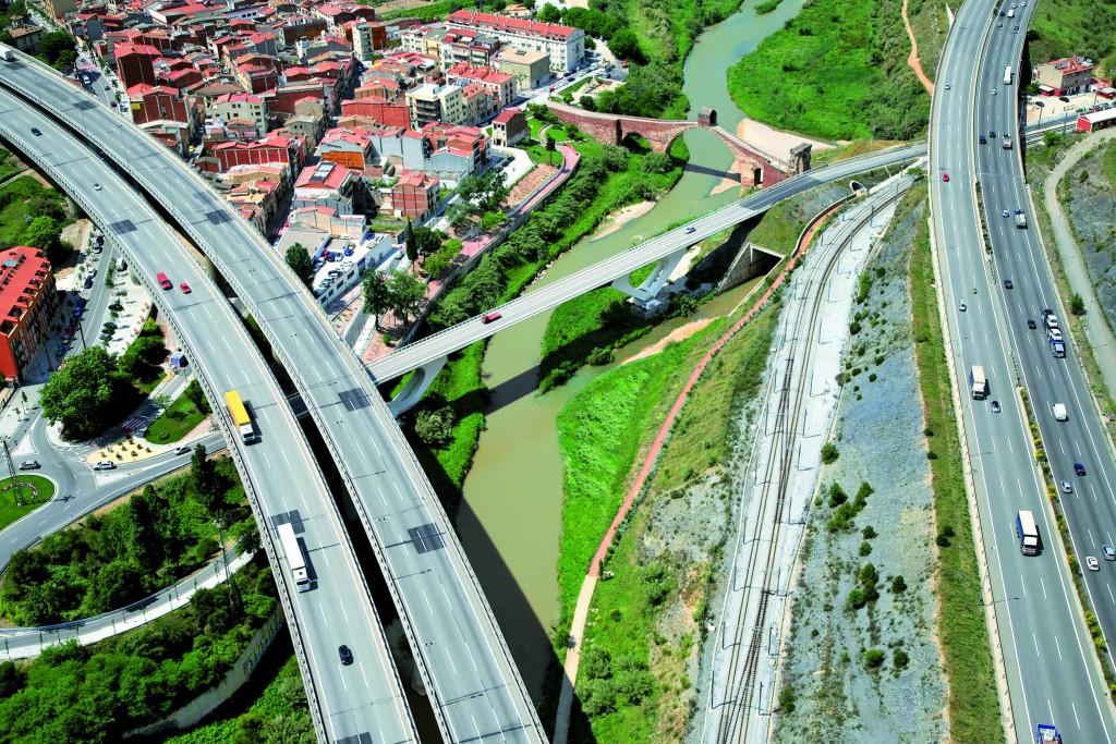 Riu Llobregat, al seu pas per Sant Andreu de la Barca