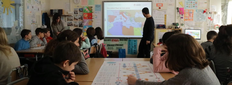 L'Escola de la Colònia Güell aprèn els drets de les persones refugiades jugant