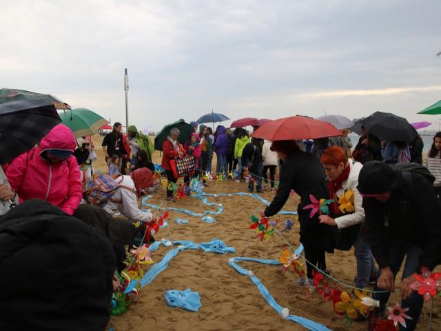 Acte de cloenda de la segona edició del programa a la platja de Barcelona