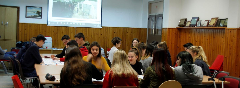 Seguim els tallers al Col·legi Sant Gabriel de Sant Adrià de Besòs