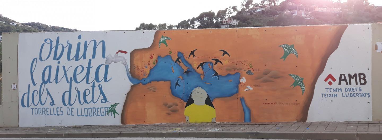 Primer mural participatiu a Torrelles del Llobregat!