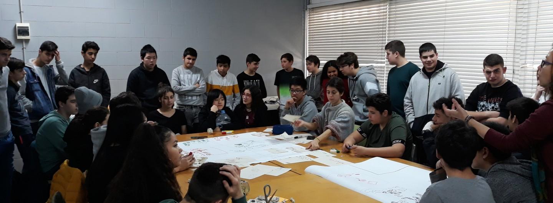 A l'Institut Vázquez Montalban de Sant Adrià de Besòs reflexionem sobre el dret de les persones refugiades i el dret a l'aigua